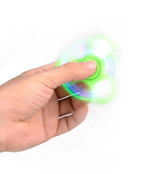 i-mee LED Light Tri-Bar Fidget Spinner - (Green)