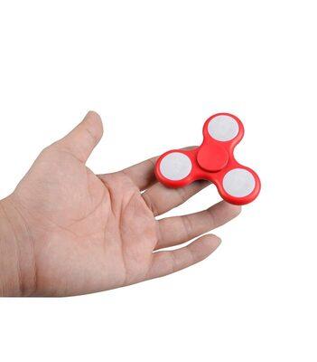 i-mee LED Light Tri-Bar Fidget Spinner - (Red)