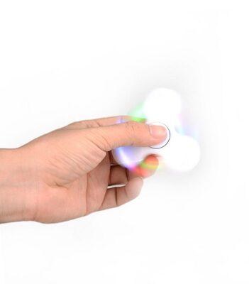 i-mee LED Light Tri-Bar Fidget Spinner - (White)