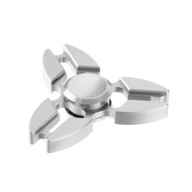 i-mee Aluminum Alloy Crab Claws Tri-Bar Fidget Spinner – (Silver)