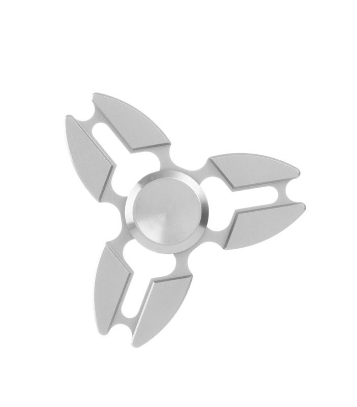 i-mee Aluminum Alloy Crab Claws Tri-Bar Fidget Spinner - (Silver)