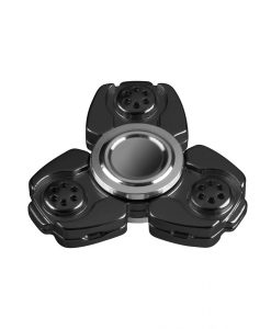 i-mee CKF CNC Metal Alloy Tri-Bar Fidget Spinner - (Black)