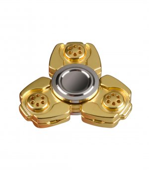 CKF CNC Metal Alloy Tri-Bar Fidget Spinner