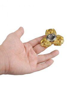i-mee CKF CNC Metal Alloy Tri-Bar Fidget Spinner - (Gold)