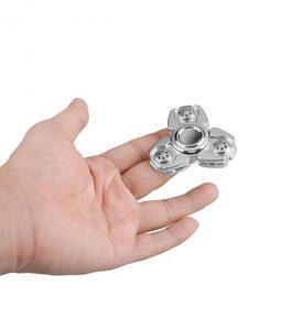 i-mee CKF CNC Metal Alloy Tri-Bar Fidget Spinner - (Silver)