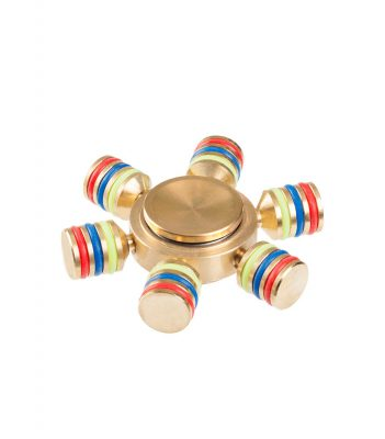 i-mee DIY Six-Bar Metal Fidget Spinner - (Gold)