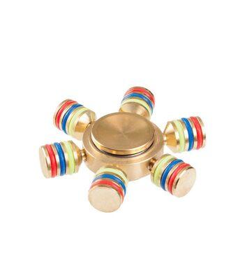 i-mee DIY Six-Bar Metal Fidget Spinner - (Gold)