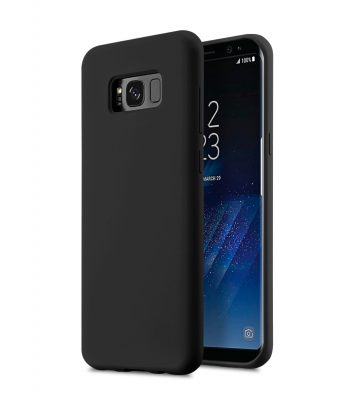 Melkco Aqua Silicone Case for Samsung Galaxy S8 - ( Black )