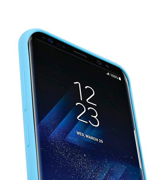 Melkco Aqua Silicone Case for Samsung Galaxy S8 Plus - ( Blue )