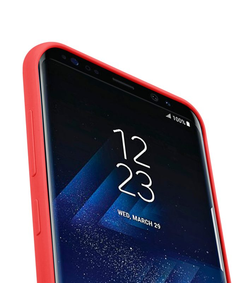 Melkco Aqua Silicone Case for Samsung Galaxy S8 - ( Red )