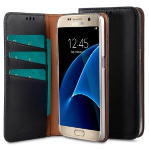 Italian Cowhide Leather Herman Series Book Style Case for Samsung Galaxy S7