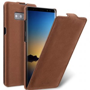 Melkco Jacka Series Premium Leather Jacka Type Case for Samsung Galaxy Note 8 - ( Classic Vintage Brown )