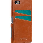 Melkco Mini PU card slot back cover for Sony Xperia Z5 Mini – (Dual card slots) – Brown PU