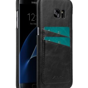 Melkco Mini PU card slot (Dual card slots) back cover for Samsung Galaxy S7 – Black PU
