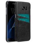Melkco Mini PU card slot (Dual card slots) back cover for Samsung Galaxy S7 Edge – Black PU