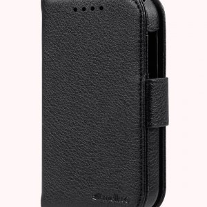 Melkco Mini PU Case for Blackberry Q10 - Wallet Book Type (Black PU LC)