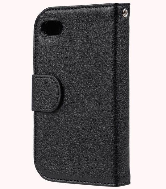 Melkco Mini PU Case for Blackberry Q10 - Wallet Book Type (Black PU LC)