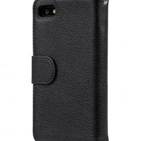 PU Case for Blackberry Z10 - Wallet Book Type (Black PU LC)
