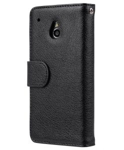 Melkco Mini PU Case for HTC One Mini M4 - Wallet Book Type (Black PU LC)