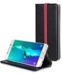 Melkco Mini PU Case for Samsung Galaxy S6 Edge Plus - Slim Tick Type (Black PU)