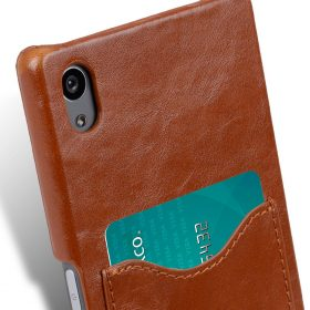Melkco Mini PU Cases Card Slot Snap Cover (Ver.2) for Sony Xperia Z5 – Brown PU