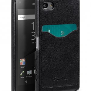 Melkco Mini PU Cases Card Slot Snap Cover (Ver.2) for Sony Xperia Z5 Compact - Black PU