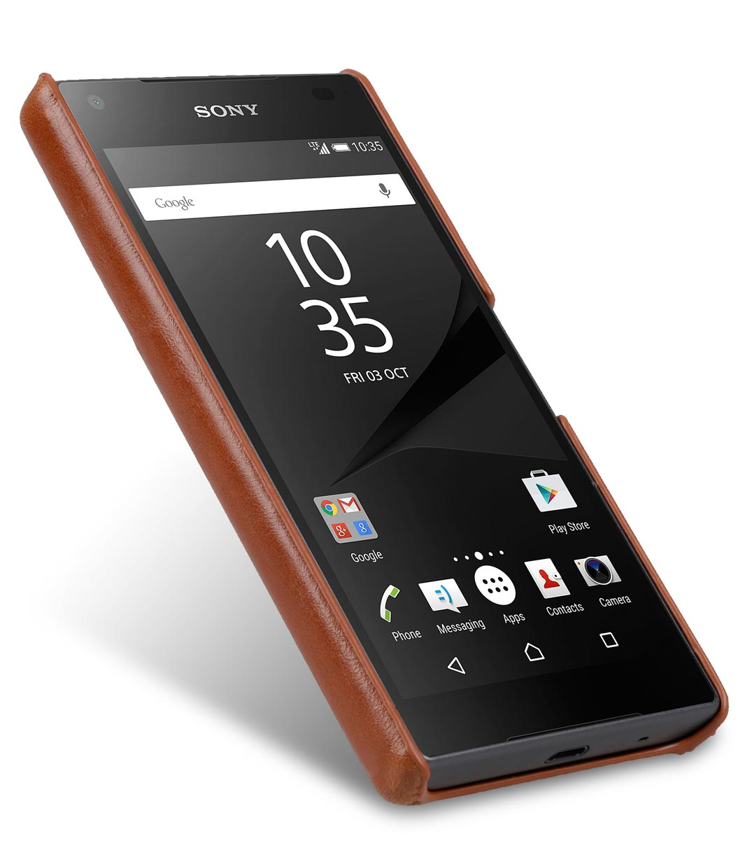 Melkco Mini PU Cases Card Slot Snap Cover (Ver.2) for Sony Xperia Z5 Compact - Brown PU