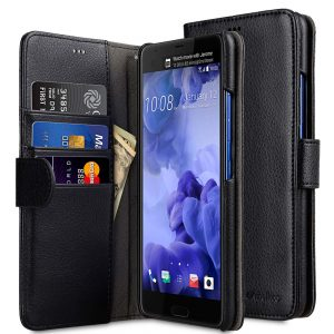 Melkco Mini PU Cases for HTC One M10 - Wallet Book Type (Black PU)