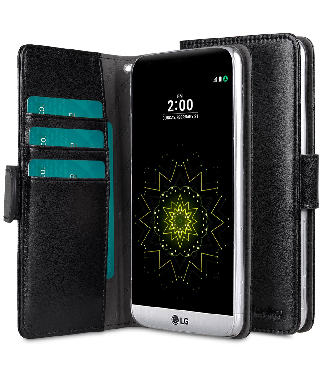 cheaper ad9fe 0ecdf PU Cases for LG G5 - Wallet Book Clear Type (Black PU)