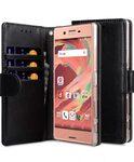 Melkco Mini PU Cases for Sony Xperia X Premium - Wallet Book Clear Type (Black PU)