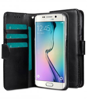 PU Cases Wallet Book Clear Type for Samsung Galaxy S6 Edge