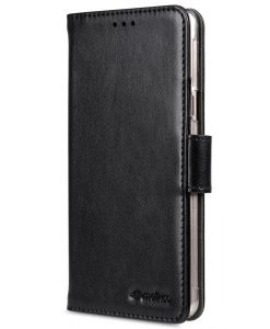 Melkco Mini PU leather case for New Samsung Galaxy A5 (2016) – Wallet Book Clear Type (Black PU)