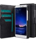 Melkco Mini PU Leather Case For Xiaomi Redmi Note 3 - Face Cover Book Type (Ver.3) (Classic Vintage Black PU)