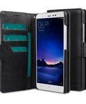 Melkco Mini PU Leather Case For Xiaomi Redmi Note 3 - Wallet Book Type (Classic Vintage Black PU)
