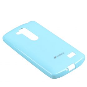 Melkco Poly Jacket TPU Cases for LG L70+ Fino / D295 (Pearl Blue)