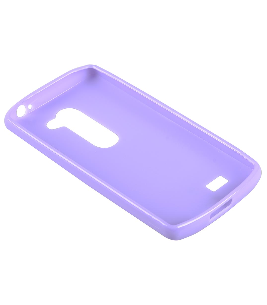 Melkco Poly Jacket TPU Cases for LG Leon - Purple