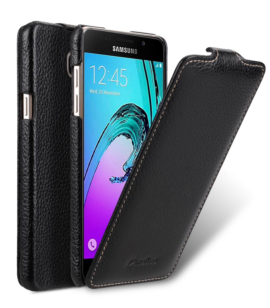 reputable site 10c70 9f2f6 Premium Genuine Leather Case for Samsung Galaxy A5 (2016) - Jacka Type  (Black LC)