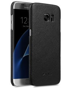 Melkco Premium Genuine Leather Snap Cover Case For Samsung Galaxy S7 Edge (Black LC)