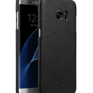 Premium Genuine Leather Snap Cover Case For Samsung Galaxy S7 Edge