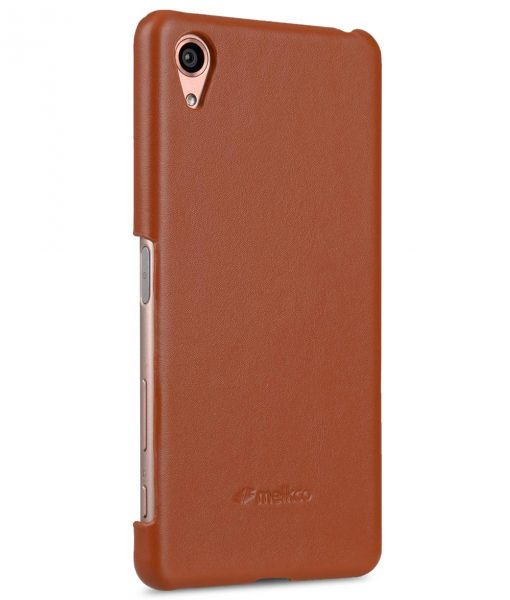 Melkco Premium Genuine Leather Snap Cover For Sony Xperia X Performance (Traditional Vintage Brown)