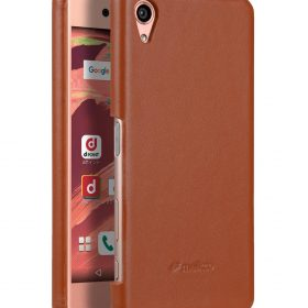 Melkco Premium Genuine Leather Snap Cover For Sony Xperia X (Traditional Vintage Brown)