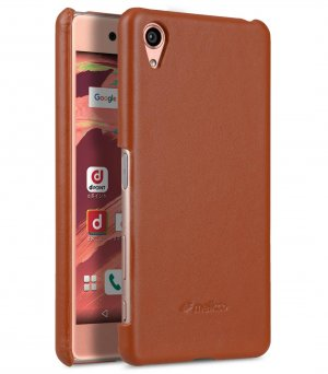 Premium Genuine Leather Snap Cover For Sony Xperia X
