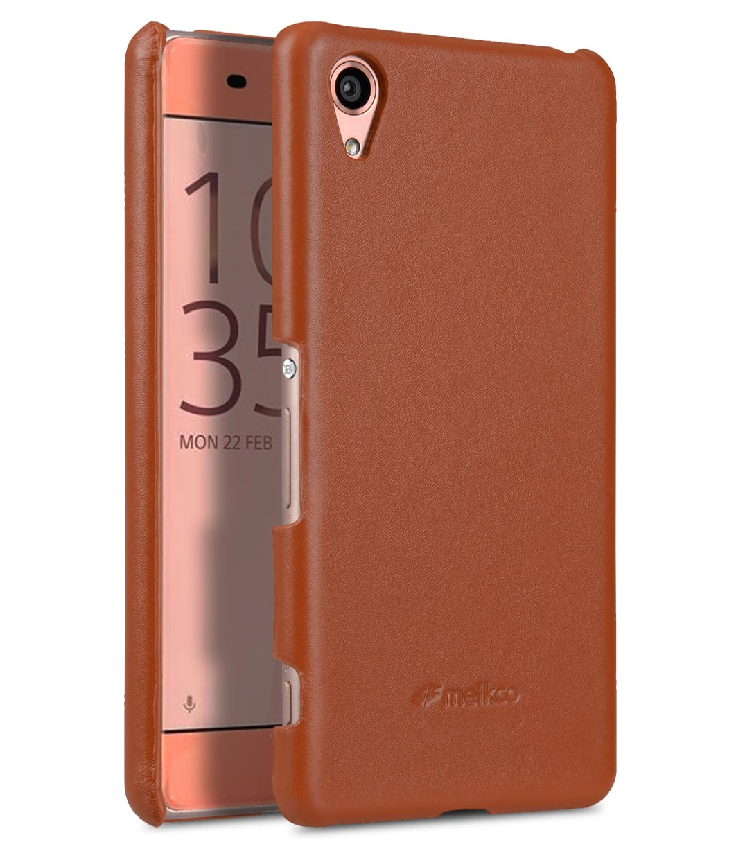 Melkco Premium Genuine Leather Snap Cover For Sony Xperia XA (Traditional Vintage Brown)