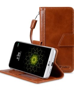 Melkco Premium Italian Genuine Leather Kingston Style Case For LG G5 - Brown Wax