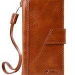 Melkco Premium Italian Genuine Leather Kingston Style Case For Sony Xperia X Performance - Brown Wax