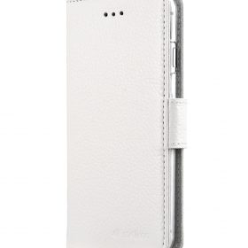 "Melkco Premium Leather Case for Apple iPhone 7 / 8 (4.7"") – Wallet Book ID Slot Type (White LC)"