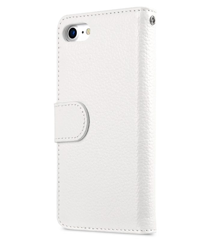 "Melkco Premium Leather Case for Apple iPhone 7 / 8 (4.7"") - Wallet Book ID Slot Type (White LC)"