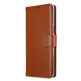 Melkco Premium Leather Case for Samsung Galaxy Note 8 – Wallet Book Clear Type Stand (Brown CH)
