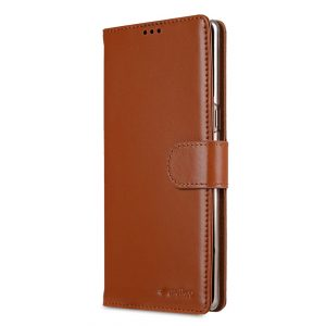 Melkco Premium Leather Case for Samsung Galaxy Note 8 - Wallet Book Clear Type Stand (Brown CH)