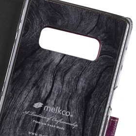 Melkco Premium Leather Case for Samsung Galaxy Note 8 – Wallet Book Clear Type Stand (Purple LC)
